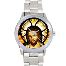 Jesus Watch Christian Bible Watch Citizen Stainless Steel Mens Round Wrist Watch