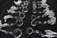 Glass Faceted Globes Ball Christmas Ornaments Bows Valerie Parr Hill 14 Retired