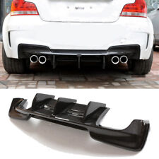 Carbon Fiber Rear Bumper Lip Spoiler Diffuser For BMW 1series E82 1M Coupe 11-16
