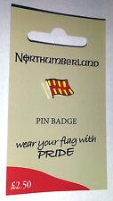 Northumberland County Flag Enamel Pin Badge