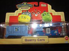 Chuggington Show Wooden Train Magnetic Wood Quarry Cars Railway Car NEW