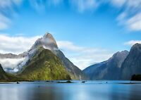 Milford Sound Island Poster Size A4 / A3 New Zealand Nature Poster Gift #12612