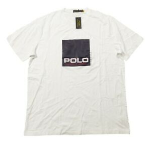 Polo Ralph Lauren Big & Tall Men's White Box Logo Graphic Short Sleeve T-Shirt