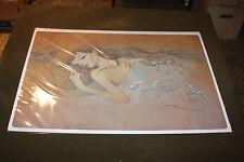 "Audrey Kawasaki Yasuragi 2007 Art Print Signed Numbered only 50 Giclee 17.5""x24"""