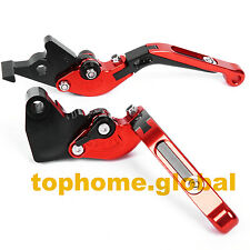 Folding Extending Clutch Brake Levers for Yamaha R15 2008-2014 CNC Red/BLK