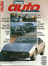 Auto passion 23 Ferrari 512 Talbot F1 BMW 327 Lotus seven Ferrari 365 Osi Saab