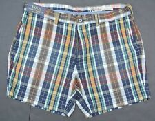 NEW POLO RALPH LAUREN CLASSIC FIT 100% COTTON INDIA MADRAS PLAID SHORTS 32