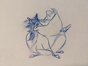 The Lion King Pumbaa Animation Drawing Walt Disney, 1994 Original Production Art