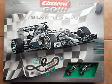 Carrera GO!!! SILVER STARS MERCEDES Autorennbahn 62364 NEU Bonus + 1,4m extra