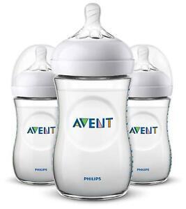 Avent NATURAL 2.0 BOTTLE 260ML/9OZ 3PK Newborn Baby Feeding Bottle Soft Teat BN