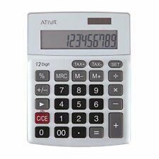 Ativa Kc-421 12-Digit Desktop Calculator, Silver