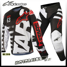 COMPLETO CROSS ENDURO ALPINESTARS RACER BRAAP 2018 BLACK WHITE RED S - 30