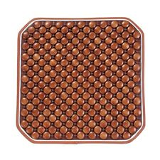 1x Cool Wooden Beaded Car Seat Chair Cover  Office Chair Massage Cushion  Brown