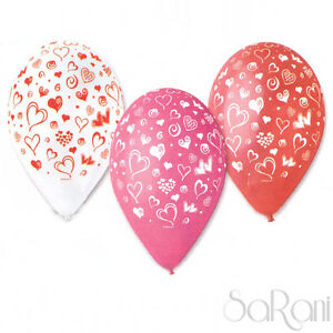 Balloons Colorful 20 Pz Footballs Feast Party Hearts Decorations 30 CM Sarani