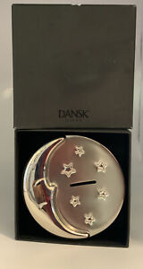 Dansk Nickel Plated Moon Baby Bank NIB