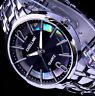 Excellanc Damen Armband Uhr Schwarz Silber Farben Streifen STR-3 B-Ware