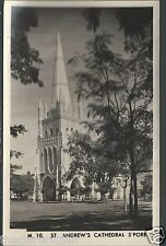 Singapore St. Andrew's Cathedral  Plain backed 1950s Unposted Real Photograph