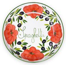 Italienische Keramik Schüssel Tomate Schale, große runde Pastaschüssel Ø 36cm