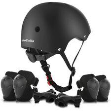 » ValueTalks Kids Bike Helmet and Pads Set Black