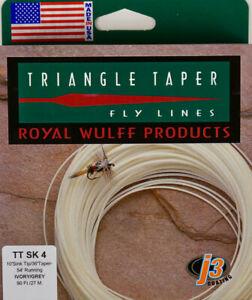 Royal Wulff Triangle Taper 4 WT Sink Tip Fly Line Ivory/Grey FastFree Ship TTSK4