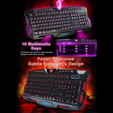 Cool 3 COLORS LED ILLUMINATO CONTROLUCE USB CON FILO TASTIERA PER I GIOCHI PC