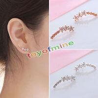Mode Zircon strass étoile en forme d'alliage Studs bijoux Boucle d'oreille