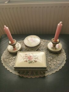Beautiful Petit Point Vanity/Dressing Table Items