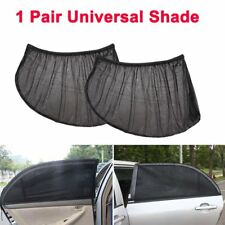 2Pcs Car UV Protection Sun Shade Curtains With Tracks Kit For Front Side Window