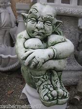Gnom Gargoyle Torwächter 40 kg massiv frostbeständig Steinfigur Gartendeko Neu