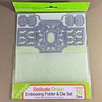 Delicate Drape Idyllics 10 Piece Embossing Folder & Die Set Tonic Studios Verso