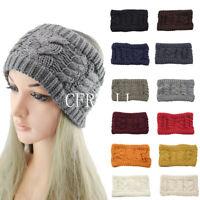 Women Elastic Twist Knit Wool Headband Ear Warmer Hair Accessories Autumn Winter