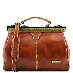 Tuscany Leather MICHELANGELO Doctor Gladstone Genuine Leather Bag Made In Italy