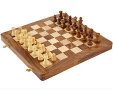 WOODEN CHESS 30 X 30CM BRAND NEW CLASSIC FOLDING SET CHESS BOARD GAME