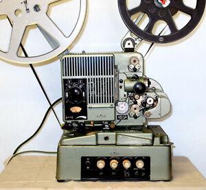 16mm Kino Filmprojektor Siemens 2000 Projektor projector Projecteur + Verstärker