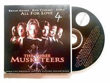 CD SINGLE B.O. FILM ▓ ADAMS, STEWART, STING : ALL FOR LOVE, THE THREE MUSKETEERS
