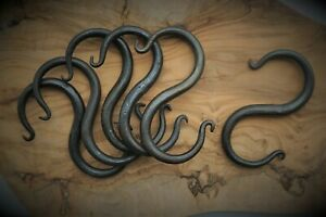 Traditional Blacksmith Hand Forged S Hooks: Made in the Black Country