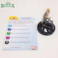 Heroclix Wolverine and the X-Men set White Queen #077 Super Rare! Team Base
