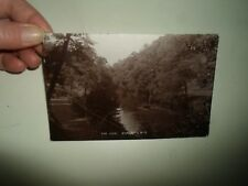 Old Real Photo Postcard THE AIRE BINGLEY Boat+River Franked+Stamped 1913  §A922