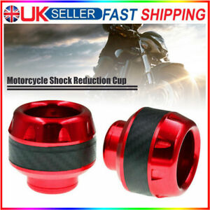 2Pcs x Falling Protector Motorcycle Frame Slider Anti-Crash Caps Front Fork Cup