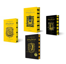 NEW Harry Potter Hufflepuff Edition 4 Hardcover Books Set - Philosopher, Chamber