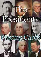 Presidents Playing Cards, New, George Washington - Donald J. Trump, Made in USA