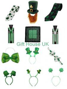 ST PATRICKS DAY IRISH FANCY DRESS COSTUME ACCESSORY PARTY CLOVER ERIE LOT