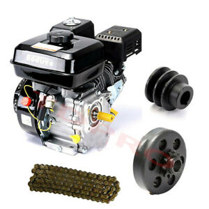 7.5HP 210cc OHV Gas Engine Motor +Clutch + 420 Chain for Go Kart Mower Mini Bike