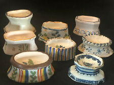 Collection Salt Cellars Earthenware 18th Century Antique French Salerons 18th Th