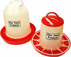 COMBO*LARGE RITE FARM PRODUCTS 2.6 GAL & 13.2LB WATERER & FEEDER CHICKEN POULTRY