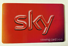 Sky Freesat TV viewing card. Current card: RED. Some regions only (see listing).