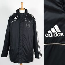 MENS ADIDAS PADDED JACKET FOOTBALL MANAGER STYLE COACH SV EINTRACHT SALZWEDEL XL