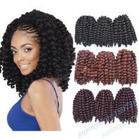 Jumpy Bounce Curly Hair Wand Curl Twist Crochet Braids Hair Extensions Women