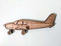Piper Cherokee wood magnet, laser cut from solid Tasmanian Oak, Australian made