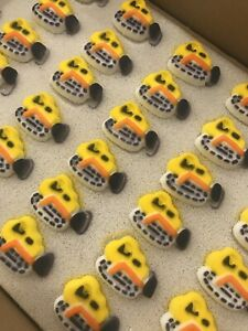 24 Edible Tractor Cupcake Toppers Construction Party Cakes Fathers Day LAST ONE!